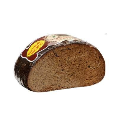 Хлеб Рижский хлеб Деревенский пшенично-ржаной заварной бездрожжевой половинка в нарезке