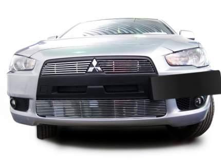 Накладка решетки радиатора Fancycar для Mitsubishi Lancer X (2007+), верхняя, профиль 6,5
