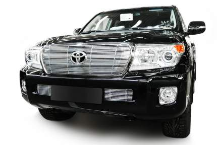 Накладка решетки радиатора Fancycar для Toyota Land Cruiser 200, верхняя, профиль 6,5 мм,