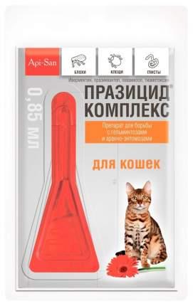 Капли для кошек против блох, глистов, клещей Api-San Празицид-комплекс, 1 пипетка, 0,85 мл