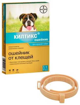 Ошейник для средних собак против блох, власоедов, вшей, клещей Bayer Килтикс желтый, 48 см