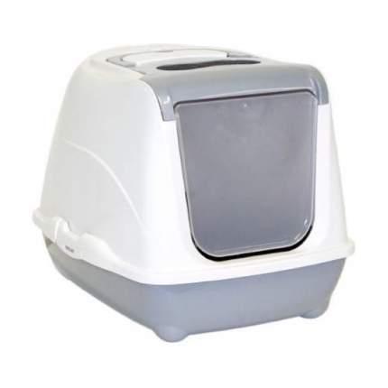 Туалет для кошек MODERNA Flip Cat, прямоугольный, серый, 50х39х37 см