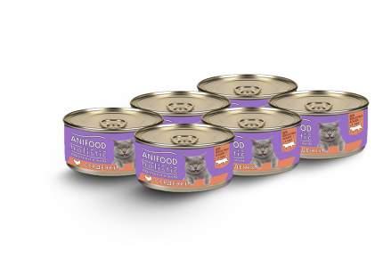 Влажный корм для кошек ANIFOOD HOLISTIC, сердечки ломтики в желе, 6шт, 100г