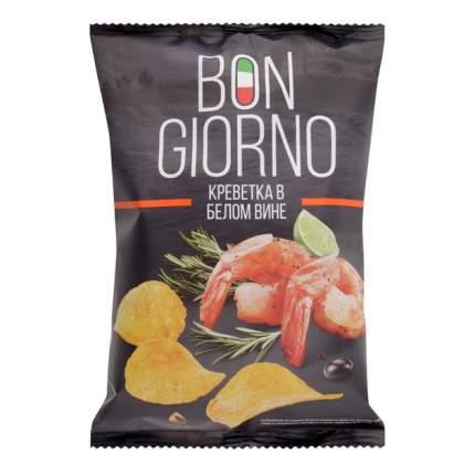 Чипсы Bon Giorno картофельные креветка в белом вине 90 г