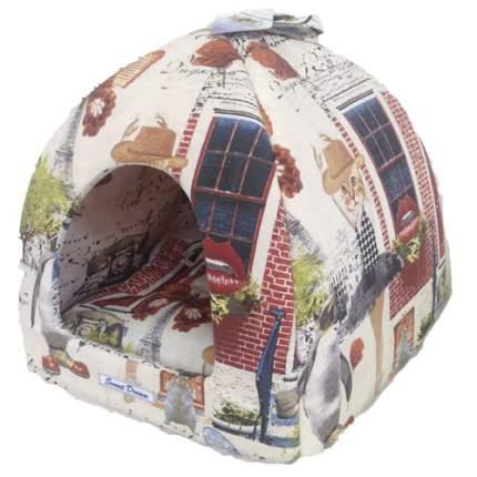 Домик для кошек и собак Бобровый Дворик Сладкий сон №1 Кошкин дом, 39x39x35см