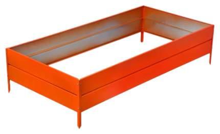 Грядка оцинкованная Электромаш прямоугольная 2000х1000х300мм оранжевая