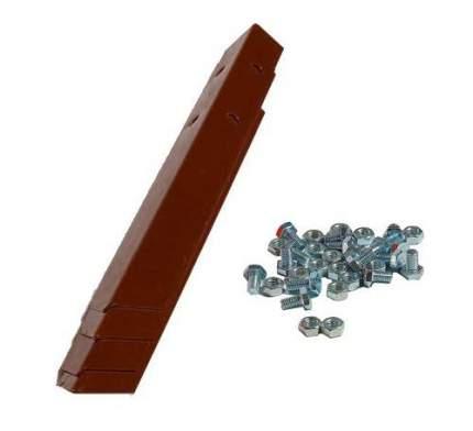 Клумба оцинкованная Электромаш квадратная 1000х1000х150мм шоколад