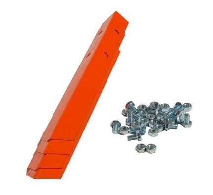 Клумба оцинкованная Электромаш квадратная 1000х1000х150мм оранжевая