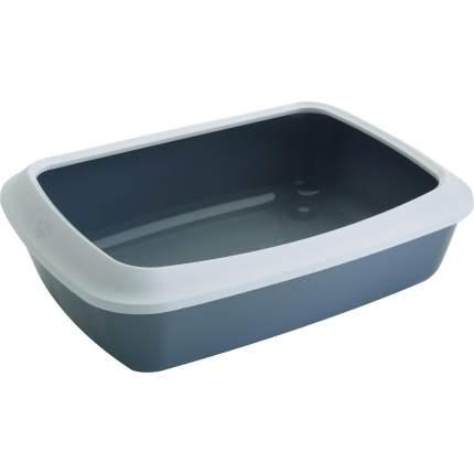 Лоток для кошек Savic Litter Tray Isis с высоким бортом, серый, 42 х 31 х 12,5 см