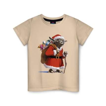 Детская футболка хлопок Йода Клаус размер 104