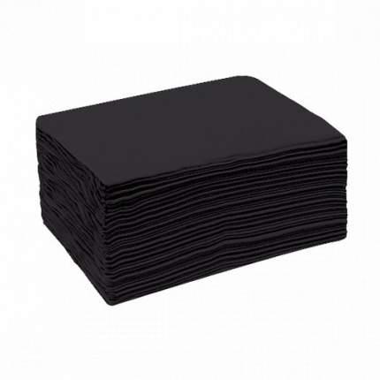 Полотенце Чистовье «Черный бархат», 35х70 см, 50 шт.