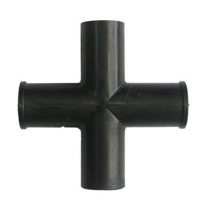 СТ 25-4 крестовина пластмассовая для соединения трубок диаметром 25мм