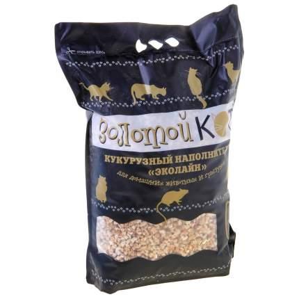 Впитывающий наполнитель Золотой кот кукурузный, 3 кг, 6 л