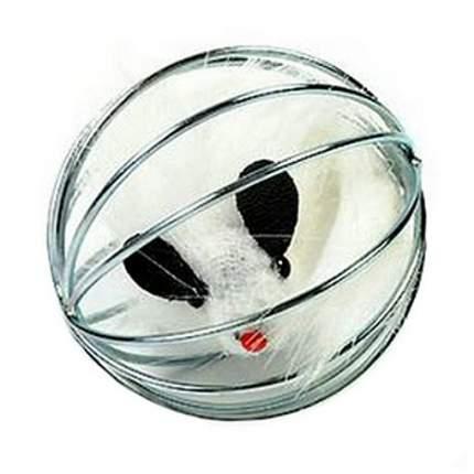 Игрушка для кошек I.P.T.S. Мышь меховая в металлическом шаре, в ассортименте, 5,5см