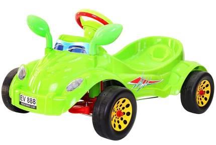 Педальная машина RT Молния с музыкальным рулем зеленый
