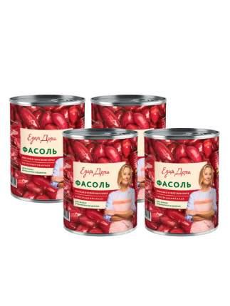 Фасоль Едим дома красная в томатном соусе 4 шт 400 г