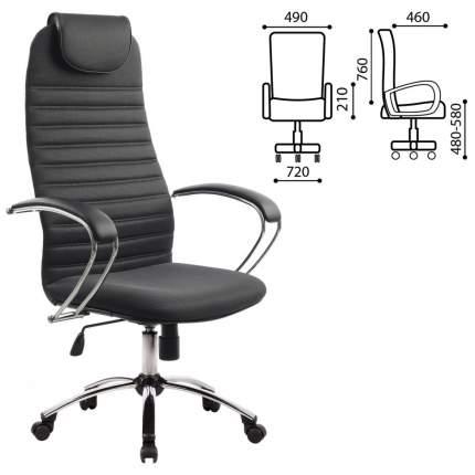 Кресло офисное МЕТТА BK-10CH, ткань-сетка, хром, серое