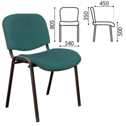 Офисный стул NoBrand ИЗО, черный/зеленый