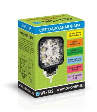 Светодиодная фара ВЫМПЕЛ WL-132F ближн. свет, кв. мет. корп. 9 LED по кругу, 27W