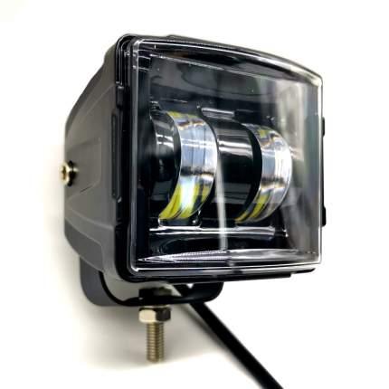 Светодиодная фара ВЫМПЕЛ WL-530 кв. мет. корп., LENS, 2 LED, 30W