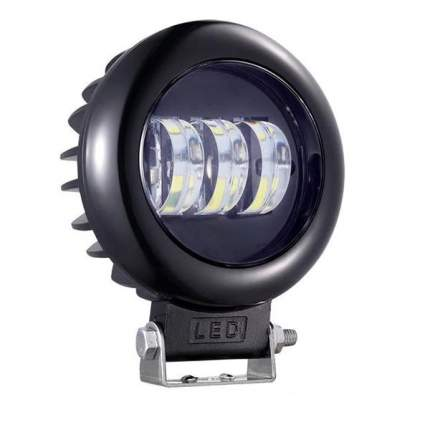 Светодиодная фара ВЫМПЕЛ  WL-430 кругл. мет. корп., LENS, 3 LED, 45W