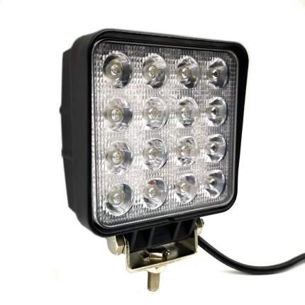Светодиодная фара ВЫМПЕЛ WL-148CS дальн. свет, кв. мет. корп. 16 LED, 48W