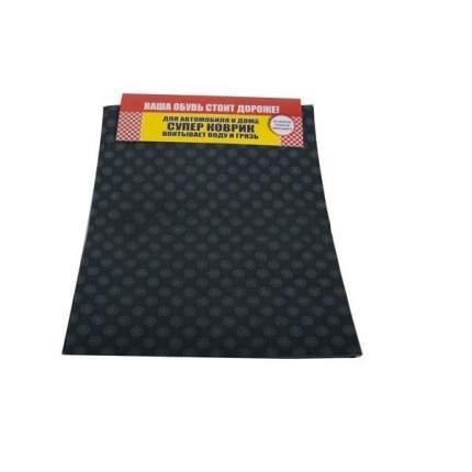 Коврики в салон влаговпитывающий Верона-С многоразовый 38x50 см. клетка черно-серый