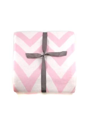 Одеяло детское байковое Ермолино Премиум зигзаги фламинго, 100х140 см