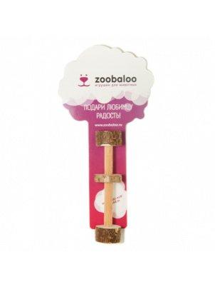 Игрушка для грызунов Zoobaloo Гантель малая, дерево, 10 см