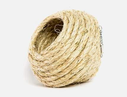 Дом-шар для птиц Zoobaloo, плетенный из сизали, большой, 10 см