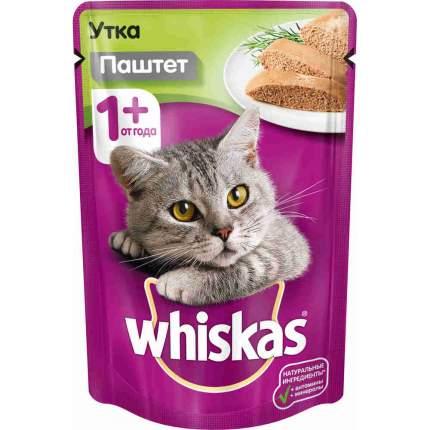 Влажный корм для кошек Whiskas паштет с уткой,  85г