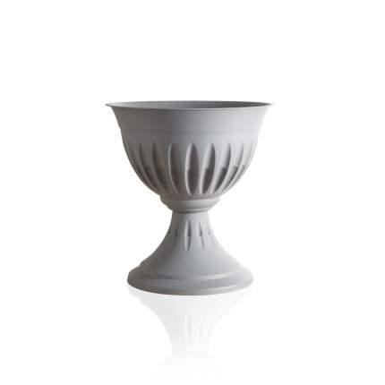 "Кашпо-вазон Bama ""Алба"", 33 см (серый)"
