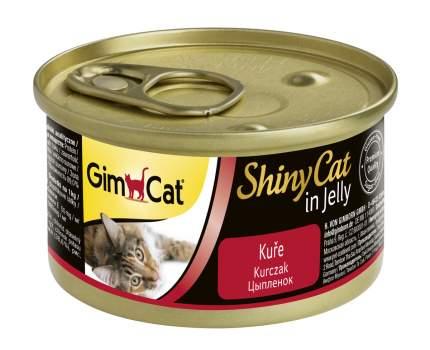 Консервы для кошек GimPet ShinyCat, цыпленок, 70г