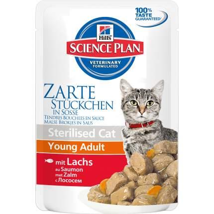 Влажный корм для кошек Hill's Science Plan Sterilised, лосось, 85г