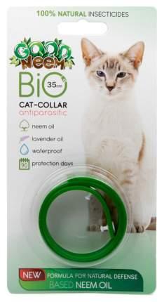 Ошейник для кошек против паразитов GOOD NEEM PLUS с маслом дерева Ним, зеленый, 35 см