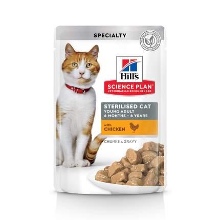 Влажный корм для кошек Hill's Science Plan Sterilised Young Adult, курица, 85г