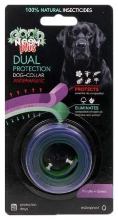Ошейник для собак против паразитов GOOD NEEM PLUS с маслом Ним, зеленый+фиолетовый, 65 см