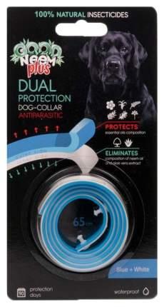 Ошейник для собак против паразитов GOOD NEEM PLUS с маслом дерева Ним, белый+голубой, 65см