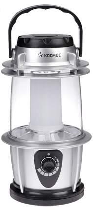 Космос Фонарь 2028Led (3Xr6) 16Светодиод. Серебр./Пластик, Кемпинг, Диммер, Влагозащит.