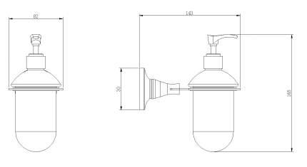 Дозатор для жидкого мыла 0,3л. Rush Corsica CO42810