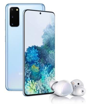 Смартфон Samsung Galaxy S20 128Gb Blue + Наушники Samsung Galaxy Buds+ White