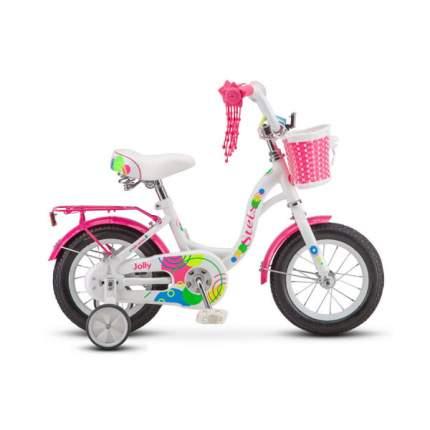 "Велосипед Stels 12' Jolly V010 2020 10"" белый/розовый"