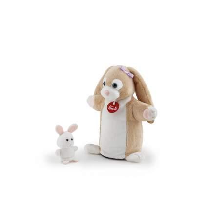 Мягкая игрушка Trudi Мягкая игрушка на руку Зайчиха с зайчонком , 24 см Trudi