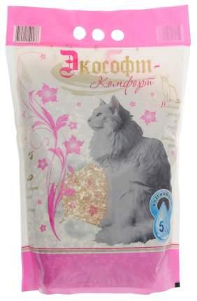 Впитывающий наполнитель для кошек Ecosoft Комфорт, силикагелевый, цеолитовый, 2.3 кг, 5 л