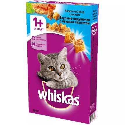 Сухой корм для кошек Whiskas Вкусные подушечки, лосось, тунец, креветки, 0,35кг