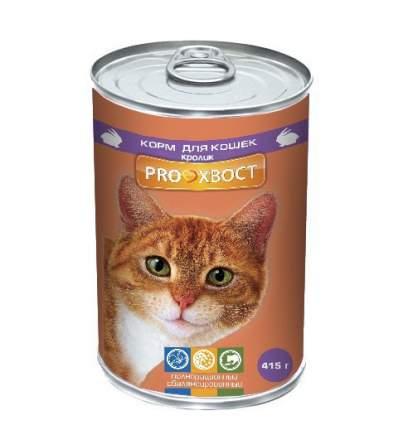 Консервы для кошек ProХвост, кролик в желе, 415г