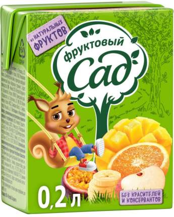 Нектар Фруктовый Сад фруктовая смесь 0.2 л