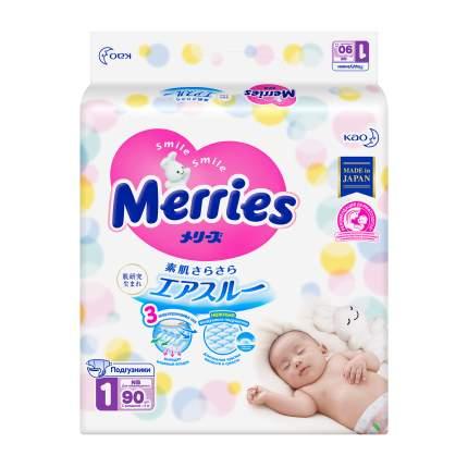 Подгузники Merries для новорожденных NB (0-5 кг), 90 шт.