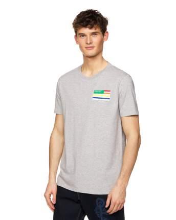 Футболка мужская United Colors of Benetton 3I1XJ17A0 серая XS