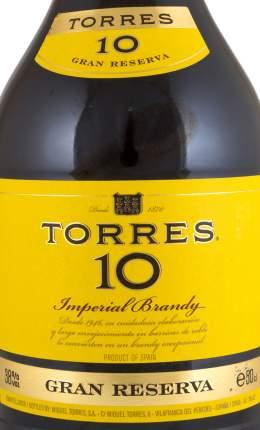 Бренди Торрес 10 Гран Резерва 38% 0,5